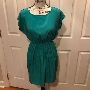 Pretty green rayon dress